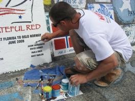 2009 Azores Grateful Red Stencil