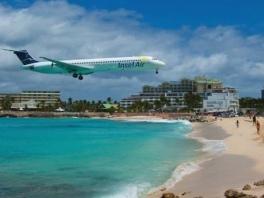 sunset-beach-plane