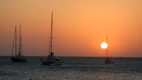 Sunset at Nikki Beach